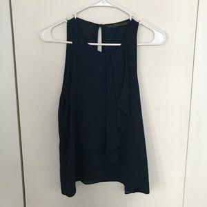 Zara navy tank blouse